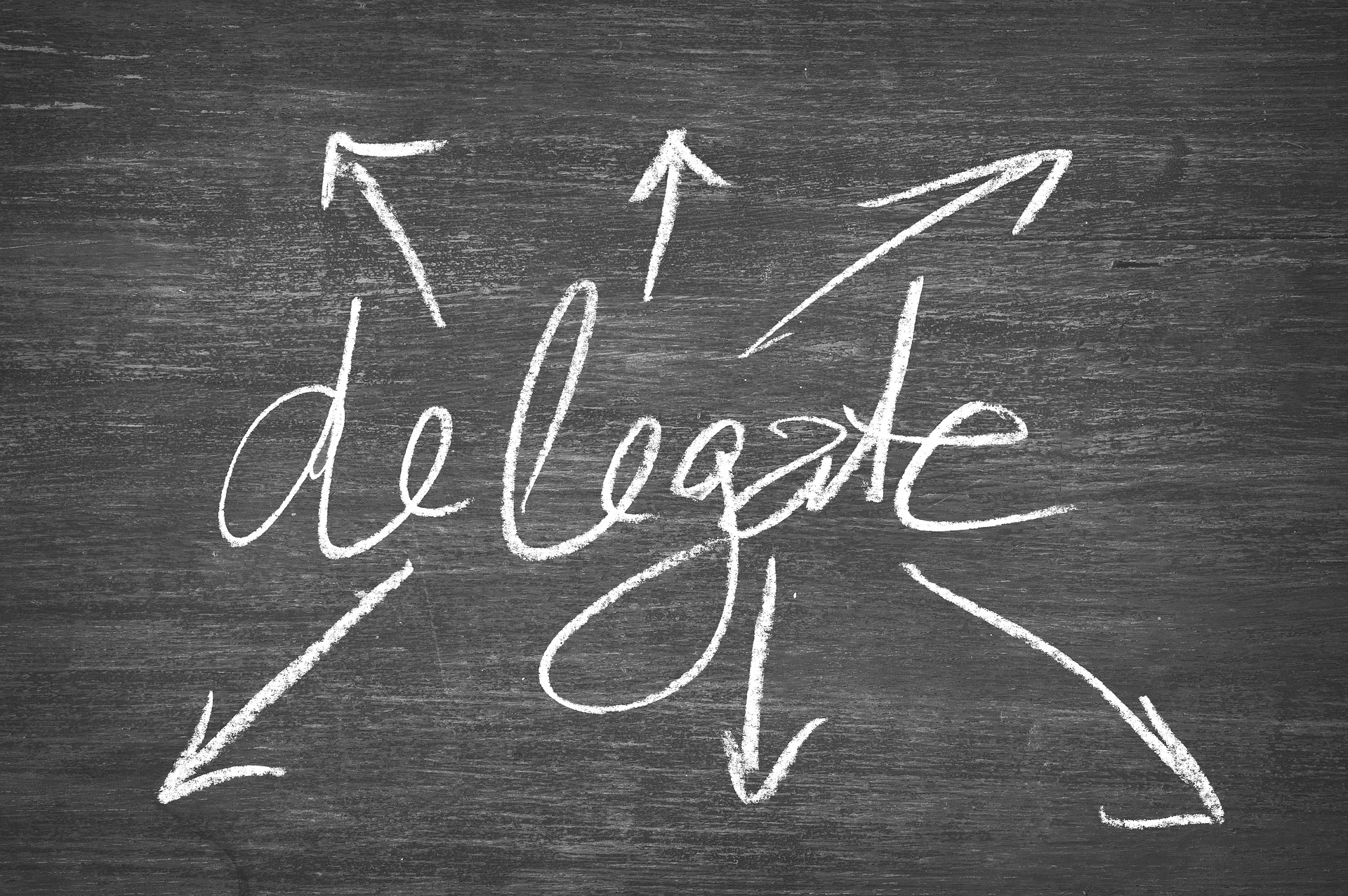What does it means to delegate the tasks?